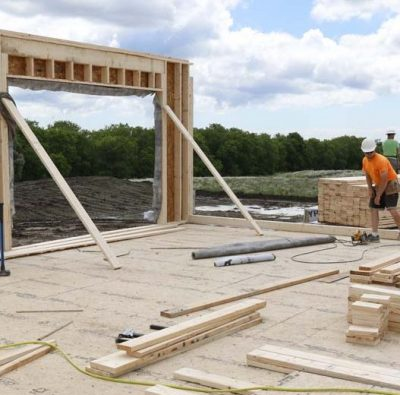 framing package on new home construction